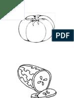 Sayur-sayuran_black and White