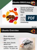Ubuntu overview for developer