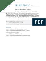 Belief in G-d - Is It a Mitzvah