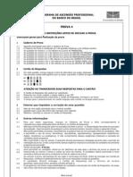 Prova Certificação Interna BB 2006 Prova 4 Inepad