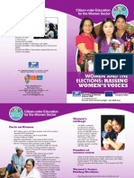 Citizen-Voter Education for the Women Sector