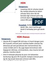 HDN, hemorragic disease of newborn