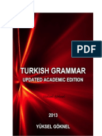 TURKISH GRAMMAR UPDATED ACADEMIC EDITION YÜKSEL GÖKNEL March 2013-signed