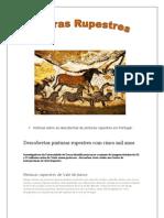 Notícias sobre as descobertas de pinturas rupestres em Portugal