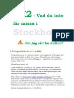 8 Tips Om Stockholm