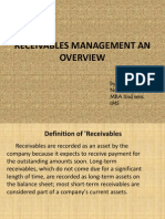 Receivabbles Management an Overview