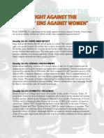 7 Deadly Sins Against Women1