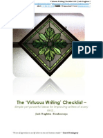Jack Oughton - 'Virtuous Writing Checklist' V1.0
