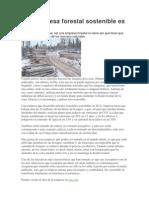 Una Empresa Forestal Sostenible Es Posible