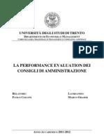 La Performance Evaluation Dei Consigli Di Amministrazione