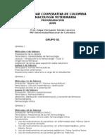 Programación 2009 Farmacología