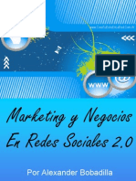 Marketing y Negocios en Redes Sociales 2.0 de Alex Bobadilla