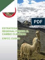 Estrategia Regional Frente Al Cambio Climatico ERFCC-Cusco