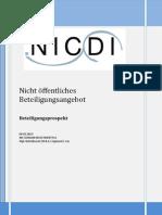 NIC Domain Investment PLC -Nicht öffentliches Beteiligungsangebot-2013