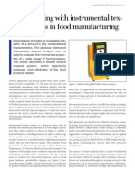 Quality Testing With Instrumental Texture Analysis in Food Manufacturing