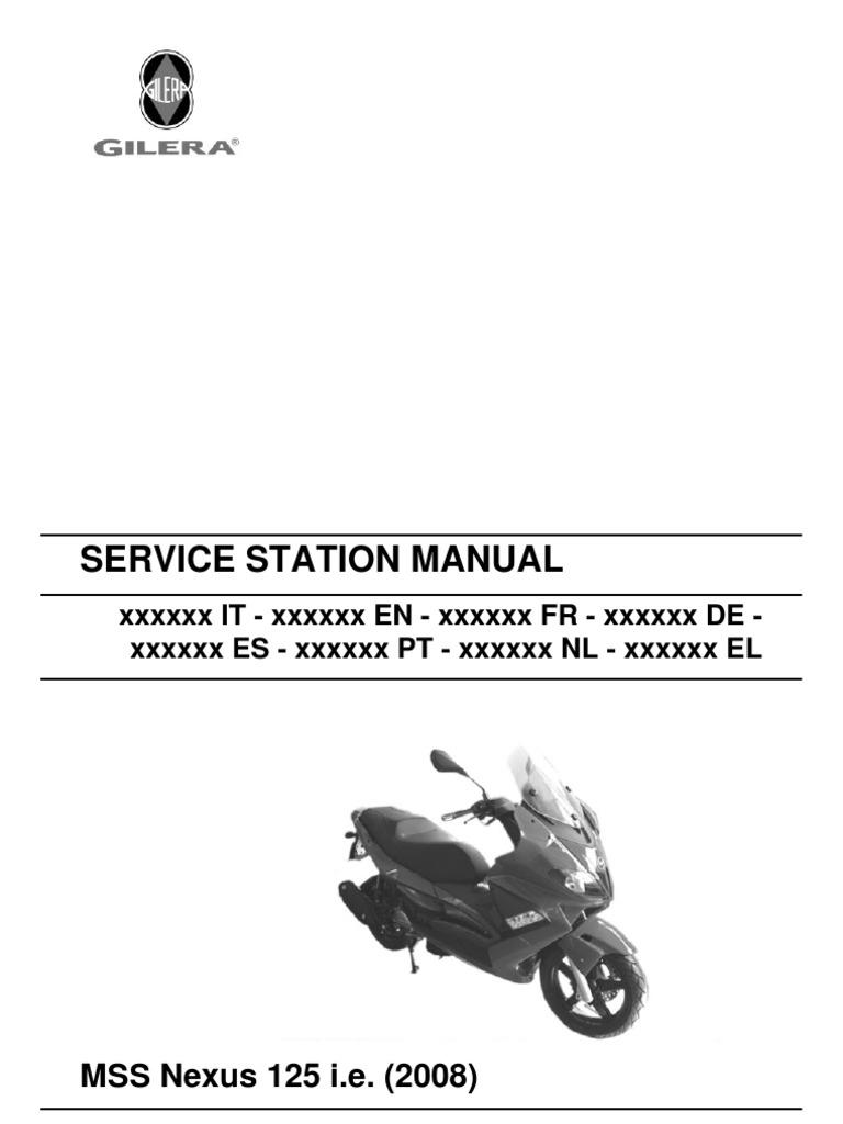 Gilera Nexus 125 i.e. MY 2008 (EN) | Motor Oil | Transmission (Mechanics)