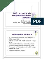 Ucb y Su Aporte a Las Mypes