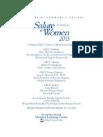 2013 Salute to Women Invitation