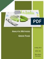Advanced Analytics-Green Team Book