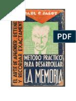 45879421 Paul C 1 Jagot Metodo Practico Para Desarrollar La Memoria