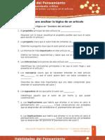 HP Plantilla Logica de Un Articulo U2