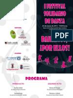 Diptico I Festival Solidario Danza ¡bailamos por ellos!