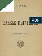 Bazele metafiziceĭ de V.Conta