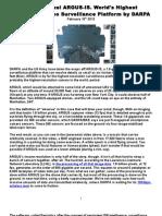 1.8 Gigapixel ARGUS-IS. World's Highest Resolution Video Surveillance Platform by DARPA.doc