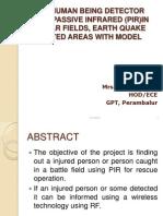 Human Detector Using Pir Sensor