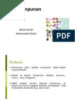 Matematika Diskrit - Himpunan