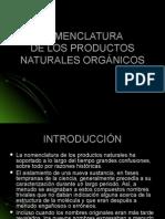 Nomenclatura de Productos Naturales Orgánicos