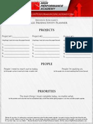 image regarding Productivity Planner Pdf titled 1-Web site Productiveness Planner