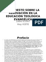 MANIFIESTO SOBRE LA RENOVACIÓN EN LA EDUCACIÓN TEOLÓGICA1.ppt2