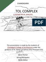 Capitol Complex Geometrical Analysis Chandigarh