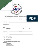 Caba Super Regional Registration Form