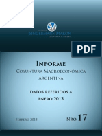 Informe de Coyuntura Macroeconómica N° 17. Febrero 2013.