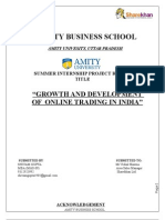 GROWTH OF ONLINE TRADING IN INDIA
