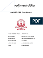 Civil Chem Course File