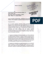 Carta a Consul en Miami