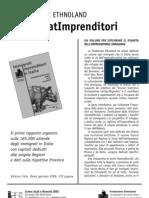 Ethnoland - Immigrati imprenditori in Italia 2009