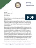 Rep. Davnie and Hansen Letter to Legislative Auditor on Minnesota Orchestra