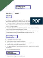 Planificación diagnóstica lengua y ciencias sociales