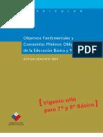 Marco Curricular 2009 7° y 8°