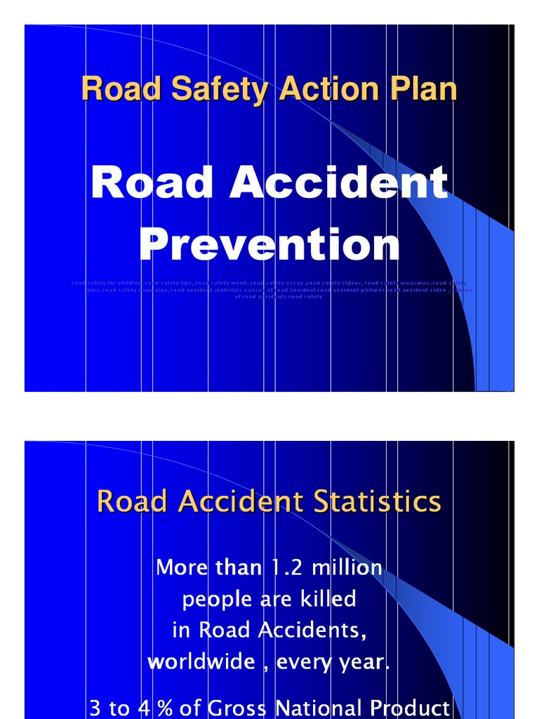 road safety project powerpoint presentation  road safety project powerpoint presentation traffic collision road safety