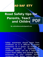 PowerPoint Presentation on Road Safety Parenting tips for teachers and students