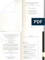 Pierre Bourdieu - Language & Symbolic Power