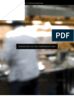 Marketing to the Corporate Chef White Paper