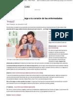 La bebida que protege a tu corazón de las enfermedades - Yahoo! Tendencias España