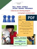 Verrill Farm Stable April Vacation Program[1]