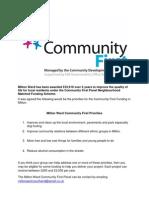 Detailed grant application Milton Ward